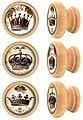 Lashuma Möbelgriff »Krone« (Spar-Set, 6-St), Möbel Knöpfe aus Holz mit Kronen-Motiv, Schrankgriffe 4 cm Ø, Bild 1