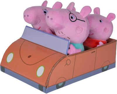 SIMBA Kuscheltier »Peppa Pig, Familie im Auto« (Set, 4-St)