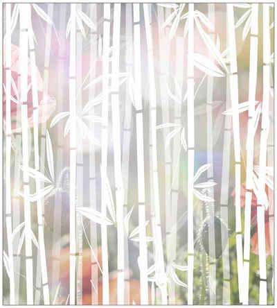 Fensterfolie »Look Bamboo white«, MySpotti, halbtransparent, glatt, 90 x 100 cm, statisch haftend