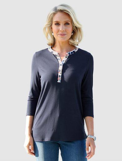 Paola Shirt mit bedruckter Knopfleiste