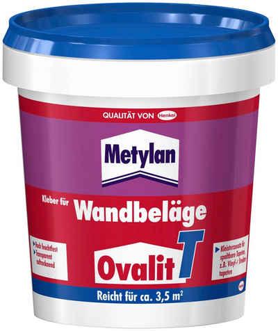 Metylan Tapetenkleber »Ovalit T«, (2-tlg), 2 x 750 g Eimer, für Textiltapeten, Metalltapeten
