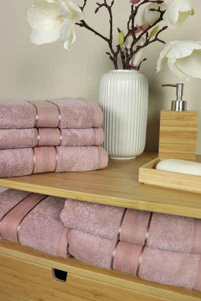 jilda-tex Handtuch (6-tlg), besonders saugfähig und strapazierfähig 480 gsm