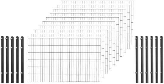 Arvotec Einstabmattenzaun, (Set), 120 cm hoch, 10 Matten für 20 m, 11 Pfosten
