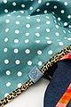 Wishproject® Dreieckstuch »Damen XXL-Tuch, Wild & Funky, Punkte & Neon« Made in Germany, Label aus recyceltem Meeresplastik, Fair Wear, hochwertige Ausführung, Bild 5