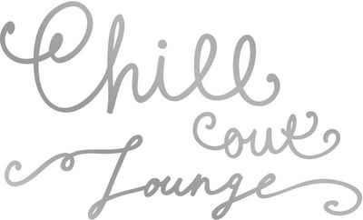 queence Wandtattoo »CHILL OUT LOUNGE« (1 Stück)