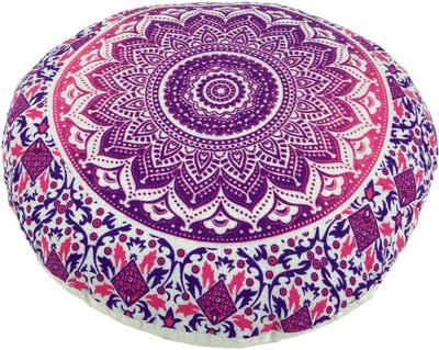 Guru-Shop Meditationskissen »Flaches Mandala Meditationskissen, Yoga Kissen,..«