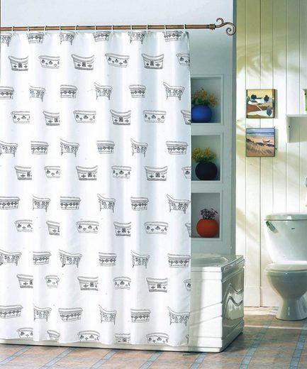 MSV Duschvorhang »Badewanne«, Breite 180 cm