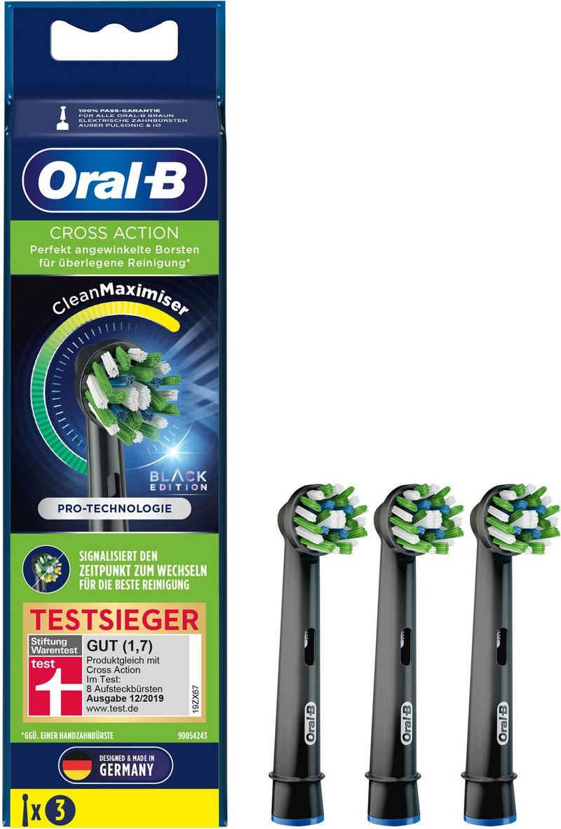 Oral B Aufsteckbürsten »CrossAction schwarz CleanMaxi«