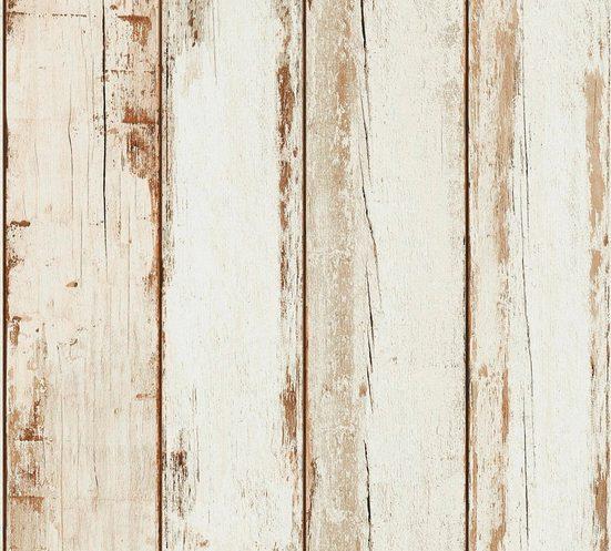 living walls Vliestapete »Il Decoro«, Holz, Holzplanken in Vintage-Optik