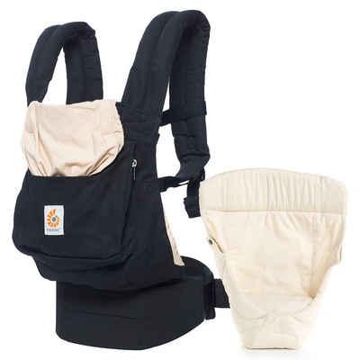 Ergobaby Babytrage »Original - Black & Camel«, Babytragen-Set inkl. Neugeboreneneinsatz Easy Snug Bauchtrage, Rückentrage, Hüfttrage