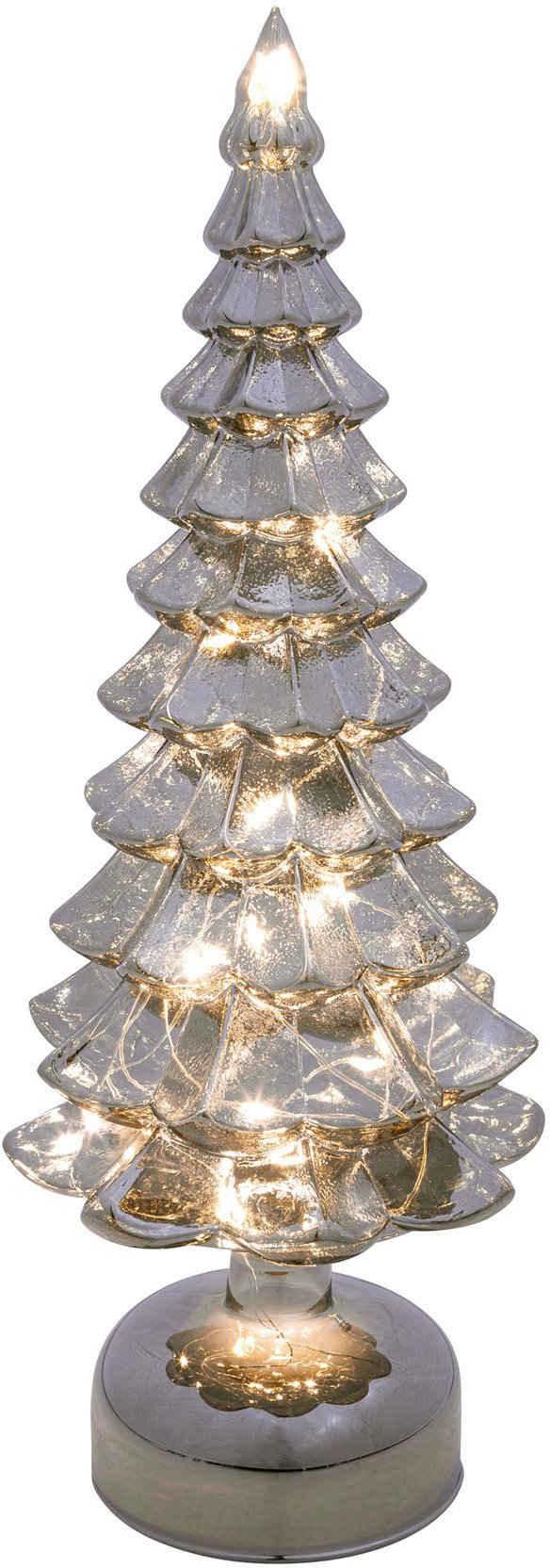 LED Baum »Tanne«, aus Glas, mit 12 LEDs, Höhe ca. 33 cm