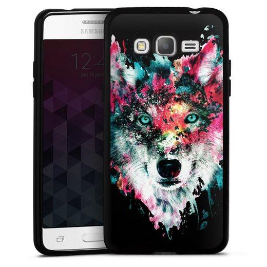 DeinDesign Handyhülle »Wolve ohne Hintergrund« Samsung Galaxy Grand Prime, Hülle Riza Peker Wolf bunt