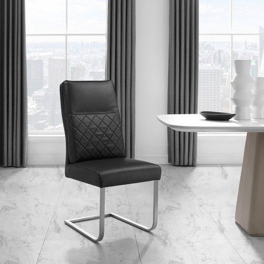 Places of Style Freischwinger »Oakville« 2er-Set, Sitz und Rücken gepolstert, modernes Design
