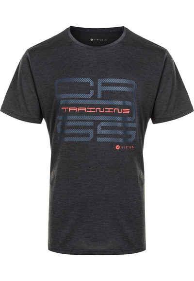 Virtus T-Shirt »SUKER MELANGE« mit coolem Frontprint