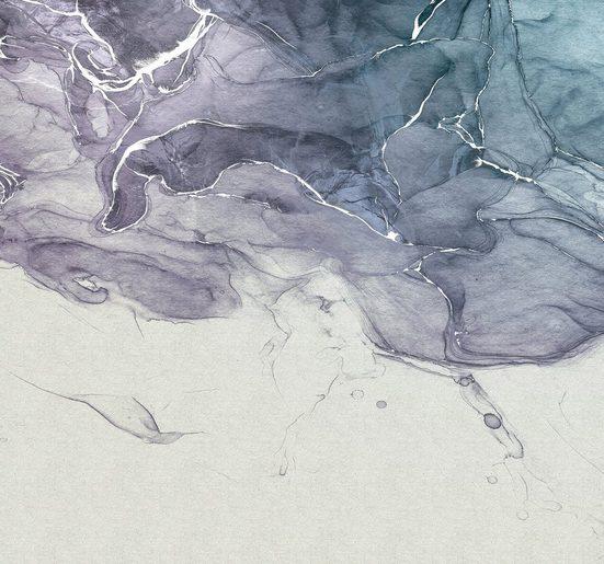 Komar Fototapete »Ink Blue Fluid«, glatt, abstrakt, minimalistisch, (Packung)