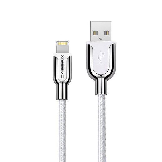 CABBRIX Smartphone-Kabel, Lightning (1,5 Meter / 150 cm), Apple iPhone Ladekabel Silber-Weiß Datenkabel High Speed Sync Charge für iPhone 11 Pro MAX Xs Xr X 8 7 6s Plus 5s 5c SE - iPad Pro Air Mini iPod AirPods [OHNE VERSANDKOSTEN]