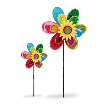 relaxdays Windrad »2 x Windrad Blume«