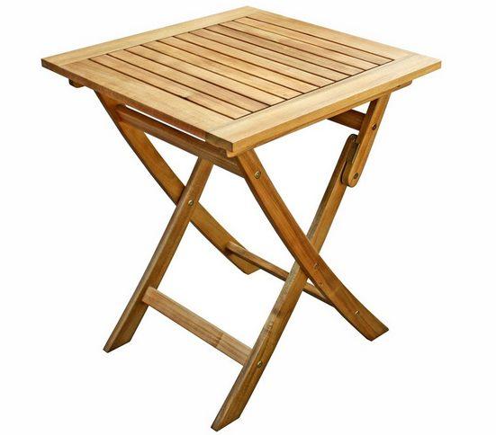 Dehner Gartentisch »Macao, klappbar, FSC® Akazienholz geölt, hellbraun«