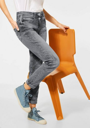 Cecil Skinny-fit-Jeans »Toronto« mit doppeltem Knopfverschluss