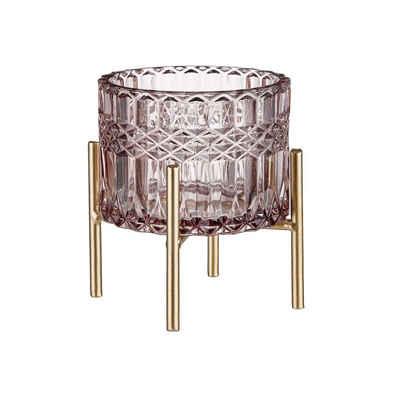 BUTLERS Teelichthalter »SUBLIME Windlicht mit Gestell Höhe 11cm«