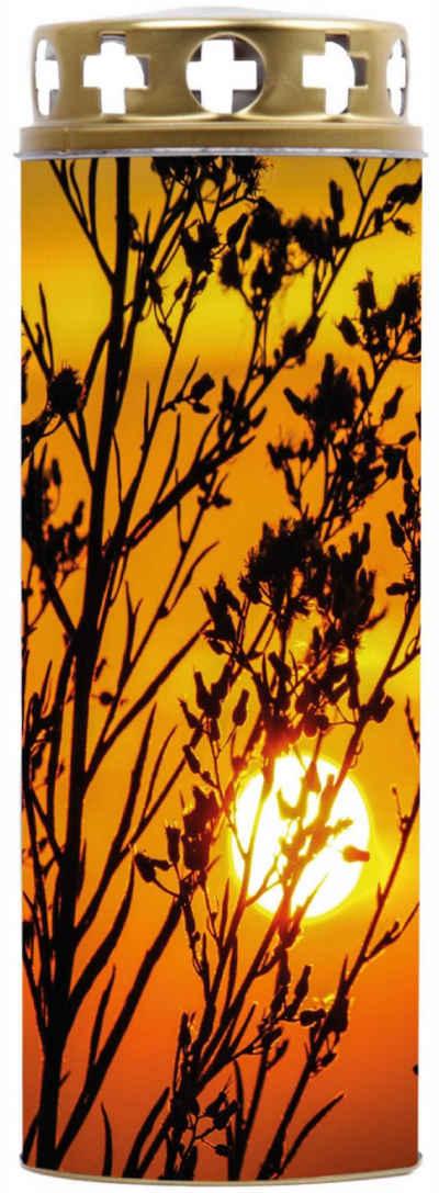 HS Candle Grabkerze (1-tlg), Effekt-Öllicht mit versch. Motiven, Grableuchte Grablicht