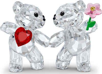 Swarovski Dekofigur »Kris Bär Zusammen glücklich, 5558892« (1 Stück), Swarovski® Kristall mit schwarzem Emaille