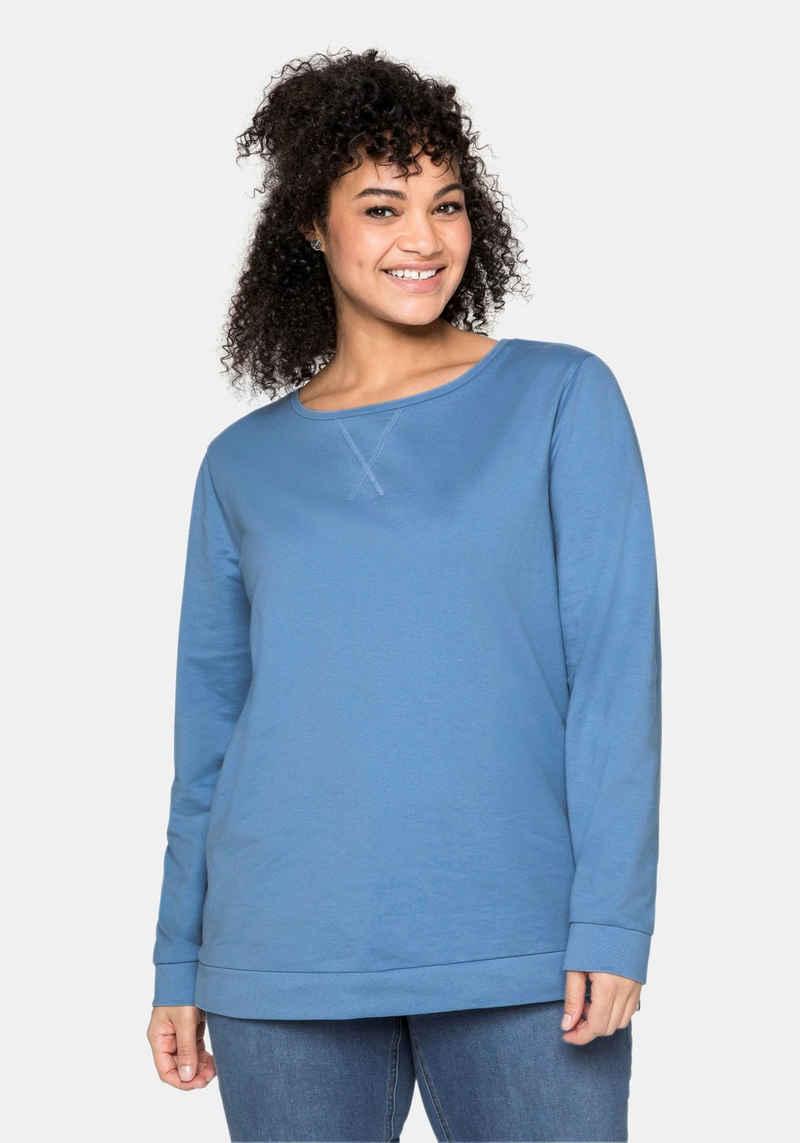 Sheego Sweatshirt mit seitlichen Reißverschlüssen