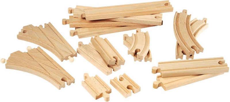 BRIO® Gleise-Set »Brio WORLD Mittleres Schienensortiment«, (Set), Ergänzungsset BRIO® WORLD, FSC®-Holz aus gewissenhaft bewirtschafteten Wäldern