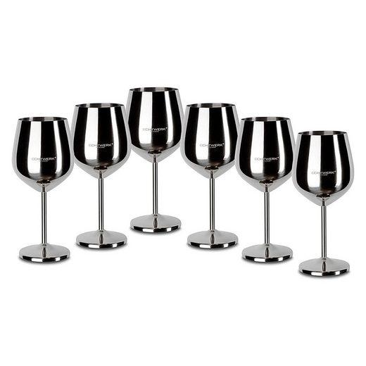 ECHTWERK Glas »Weingläser aus Edelstahl 6tlg.«, Edelstahl