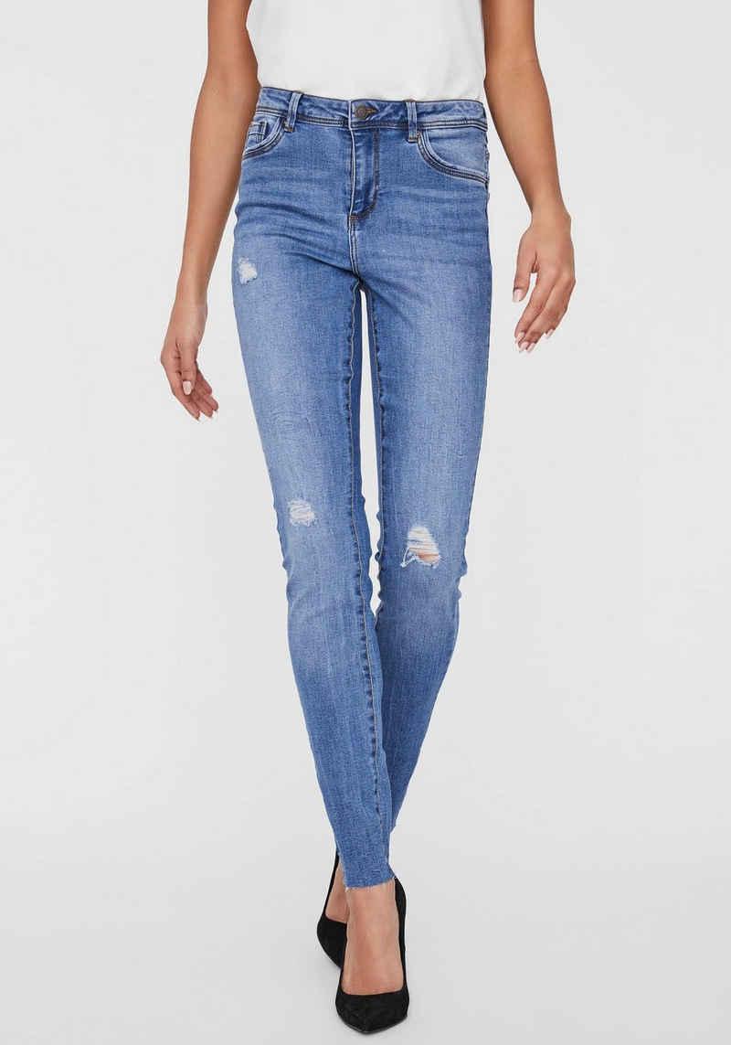Vero Moda Skinny-fit-Jeans »VMTANYA MR S PIPING DS CUT«