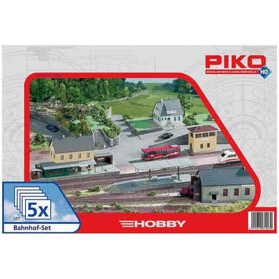 PIKO Modelleisenbahn-Set »PIKO Spur H0 Bahnhof-Set, 5tlg.«