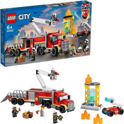 LEGO® Konstruktionsspielsteine »Mobile Feuerwehreinsatzzentrale (60282), LEGO® City Fire«, (380 St), Made in Europe