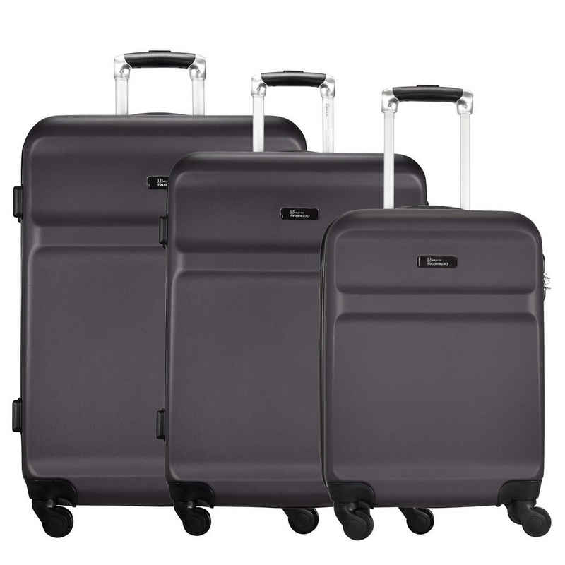 fabrizio® Trolleyset »Wings«, 4 Rollen, (3-teilig, 3 tlg), ABS
