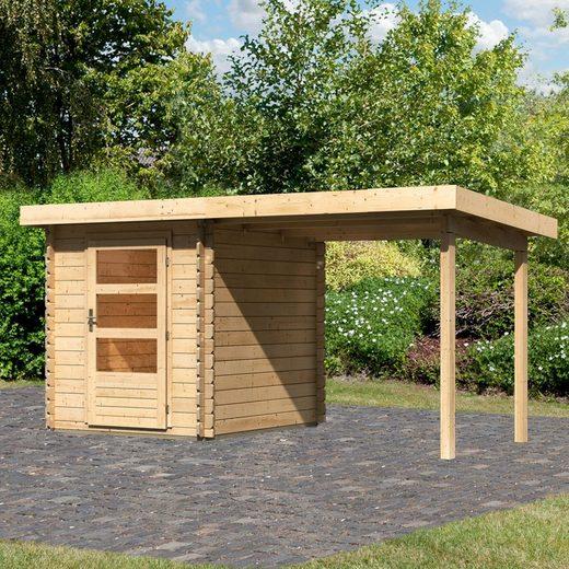 WOODFeeling Gartenhaus »Bastrup 1«, BxT: 409x256 cm, (Set)