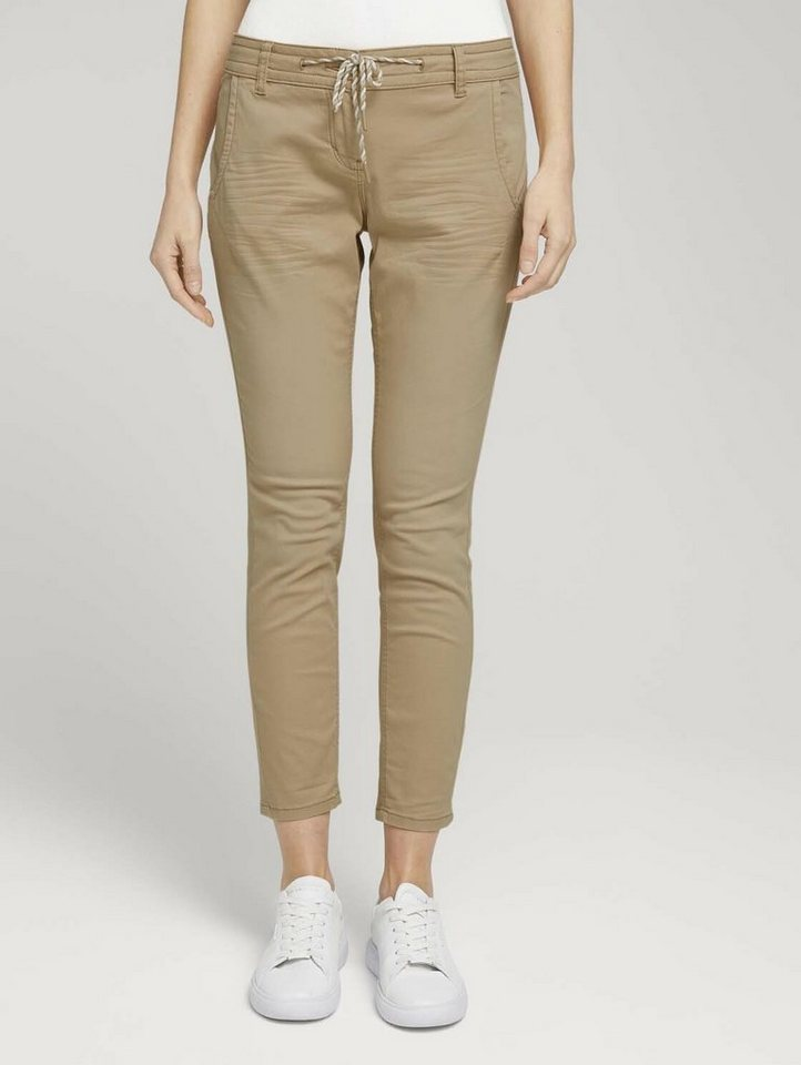 tom tailor -  Chinohose »Tapered Relaxed Hose mit Kordelzug«