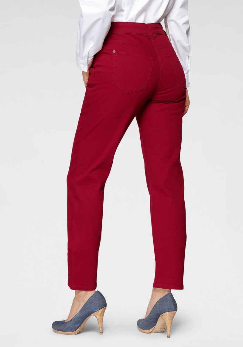 MAC Straight-Jeans »Angela New« Ziernähte im vorderen Taschenbereich