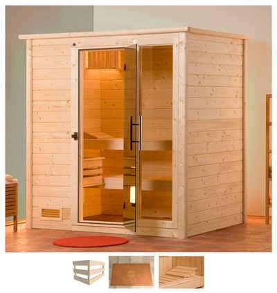weka Sauna »Bergen«, BxTxH: 198 x 148 x 204 cm, 45 mm, ohne Ofen