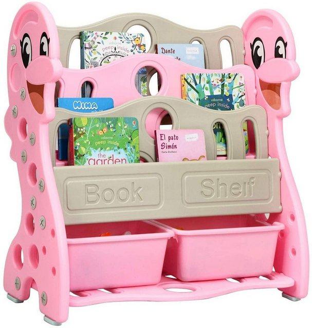 Regale - COSTWAY Bücherregal »Bücherregal Kinderregal«, mit 2 Aufbewahrungsboxen, umwandelbar, Spielzeugregal 2 Installationen, ideal für Kinderzimmer und Kindergarten  - Onlineshop OTTO