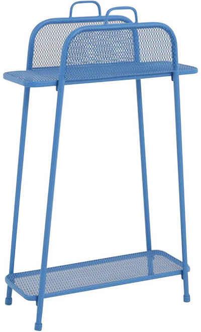 Garden Pleasure Regal »Shelfo«, Metall, 65,5x27x105,5 cm, blau