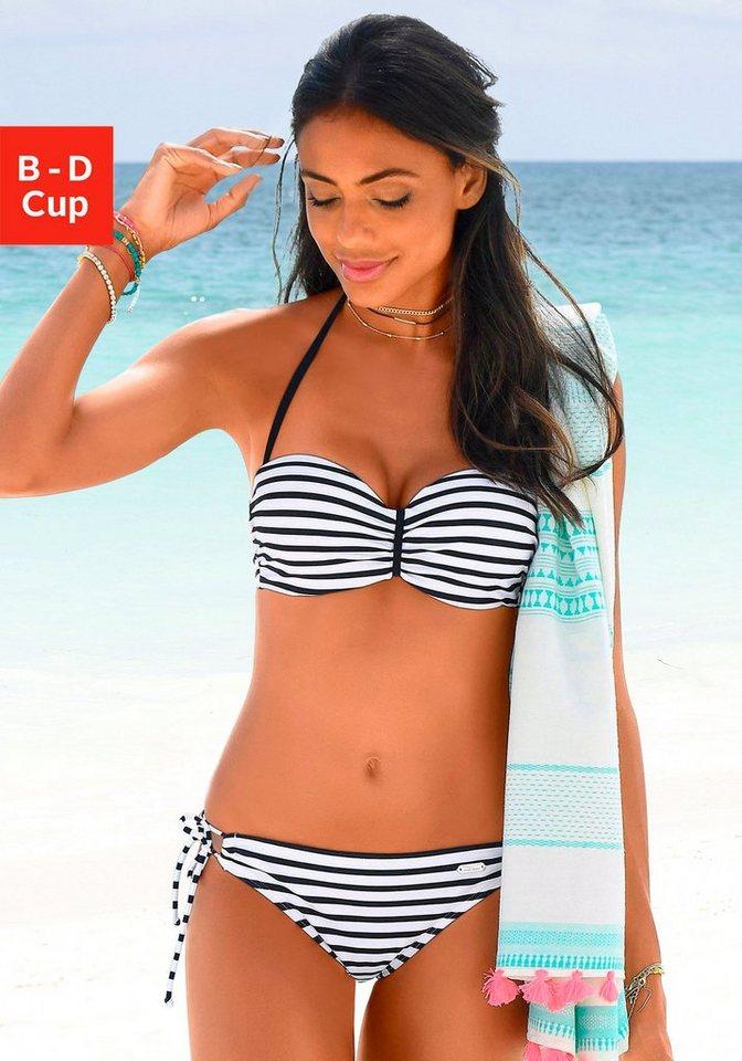 Bademode - Venice Beach Bandeau Bikini Top »Summer«, mit geraffter Mitte › weiß  - Onlineshop OTTO