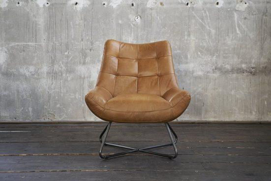 Kasper-Wohndesign Sessel Leder verschiedene Farben »Snooze«