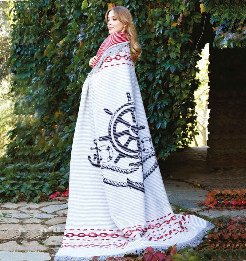 Plaid »Maritim«, SEI Design, 58% Baumwolle