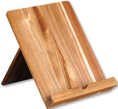 KESPER for kitchen & home Kochbuchhalter, mit Aussparung für Ladekabel, 100% FSC®-zertifiziertes Akazienholz