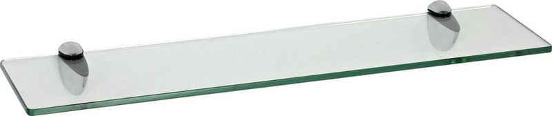 ib style Wandregal »Glasregal 8mm eckig klar 40 x 15 cm + CLASSICO Verchromt«, ESG-Sicherheitsglas