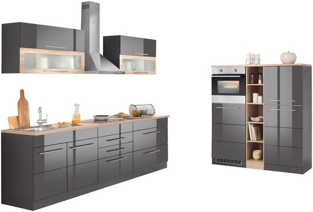 Einbauküchen - HELD MÖBEL Küchenzeile »Wien«, ohne E Geräte, Breite 430 cm  - Onlineshop OTTO