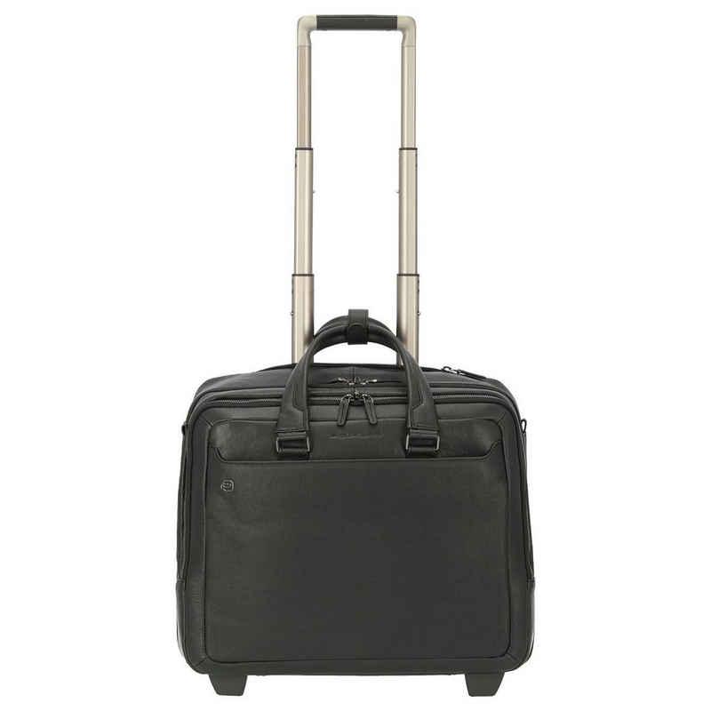 Piquadro Business-Koffer »Black Square 2-Rollen-Businesstrolley 42 cm«, 2 Rollen Rollen