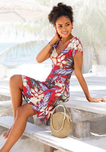 LASCANA Sommerkleid mit V-Ausschnitt