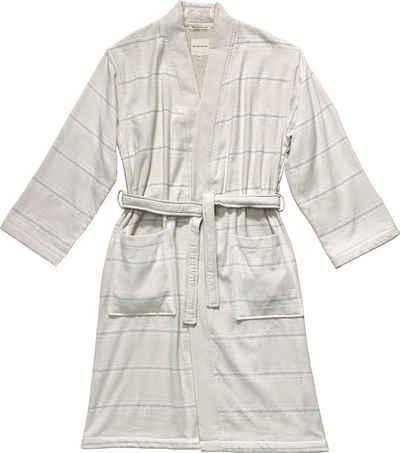 Unisex-Bademantel »Wellness Kimono«, TOM TAILOR, mit Streifen