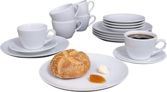 Eschenbach Kaffeeservice »Simply Cup« (18-tlg), Porzellan, Made in Germany