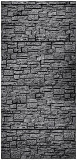 MySpotti Spritzschutz »fresh F3 Steinwand Anthrazit«, 100 x 210 cm